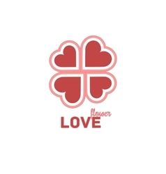 Heart Symbol Isolated On White Background - vector image vector image