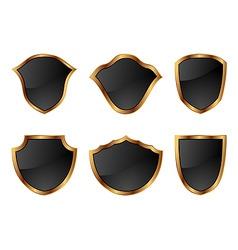 illustration of set blackgold decorative frames vector image vector image