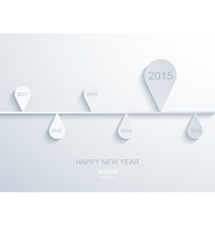 modern 2015 new year infographic vector image