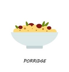 Porridgemillet porridge with raisins healthy vector image
