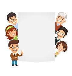 Teachers Presenting Empty Vertical Banner vector image vector image