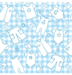 baby boy seamless pattern vector image