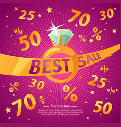 best sale banner original concept discount poster vector image