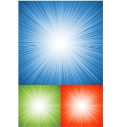 blue retro burst abstract background vector image vector image