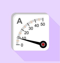 Moving iron type analog panel ammeter icon vector