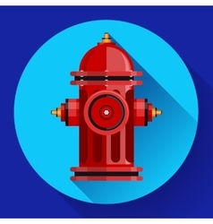 Red fire hydrant icon for video mobile vector image vector image
