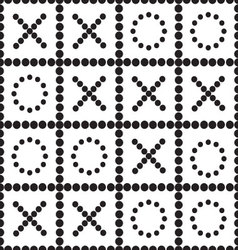 a seamless pattern TIC TAC toe vector image