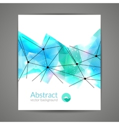 Abstract triangular 3D geometric colorful light vector image