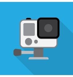 Action camera in waterprobox vector