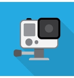 Action camera in waterproof box vector