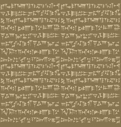 Ancient cuneiform assyrian or sumerian vector