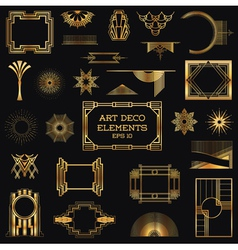 art deco vintage frames and design elements vector image
