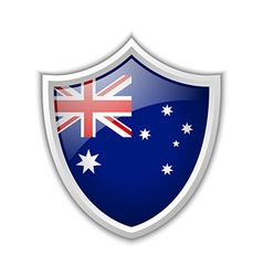 Australian shield icon vector image