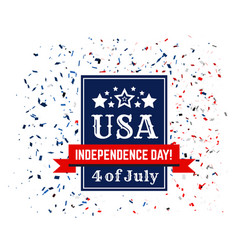 badge congratulations on us independence day vector image