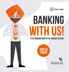 banner design banking with us vector image