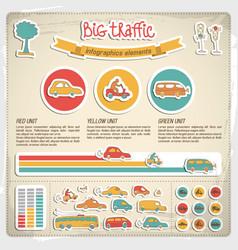 Big traffic infographics vector
