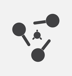 Black icon on white background atoms elements vector