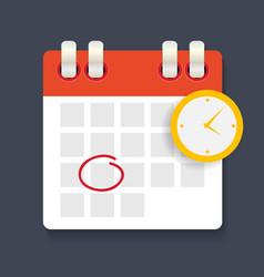 Calendar and clock icon concept schedule vector