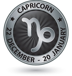Capricorn zodiac silver sign virgo symbol vector