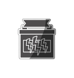 Car battery isolated vector