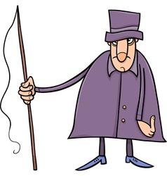 Coachman character cartoon vector
