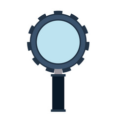 Color silhouette of magnifying glass with shape of vector