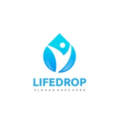 Community Water Drop Logo vector image
