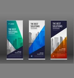 construction roll up banner design templates set vector image