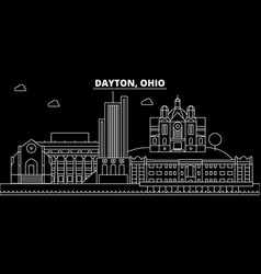 Dayton silhouette skyline usa - dayton vector