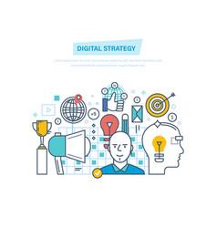 digital strategy digital marketing management vector image