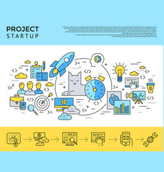 digital yellow and blue startup vector image