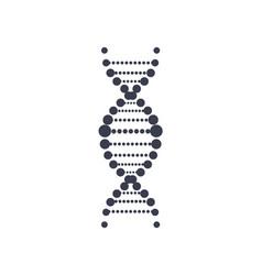 dna deoxyribonucleic acid chain logo design icon vector image