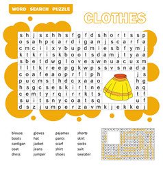 educational game for kids word search puzzle with vector image