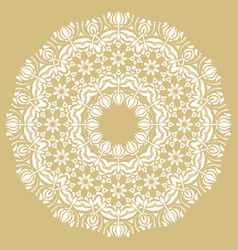 elegant white ornament in classic style vector image