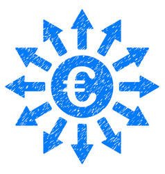 euro payments grunge icon vector image