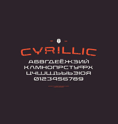 extended sans serif font in racing style vector image