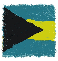 Flag of The Bahamas handmade square shape vector image