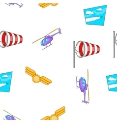 Flying vehicles pattern cartoon style vector
