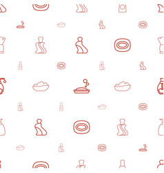foam icons pattern seamless white background vector image