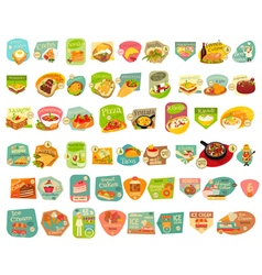 Food stickers big set vector