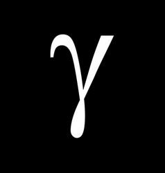 gamma icon vector image