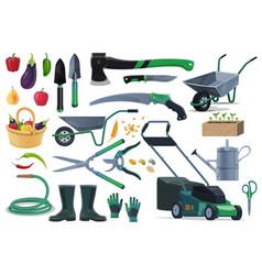 Gardening farming equipment ant tools vector