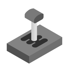 Gear stick isometric 3d icon vector
