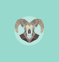 Geometric head mountain sheep vector