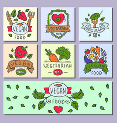 Hand drawn style of bio organic eco healthy food vector