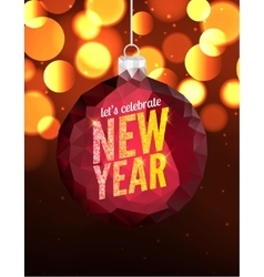 Happy New Year poster background Greeting vector image
