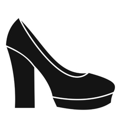 High heel shoes icon simple style vector