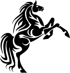 Horse in tribal style vector