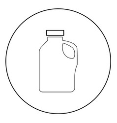 Household chemicals icon black color in circle vector