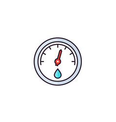 hygrometer icon flat style vector image